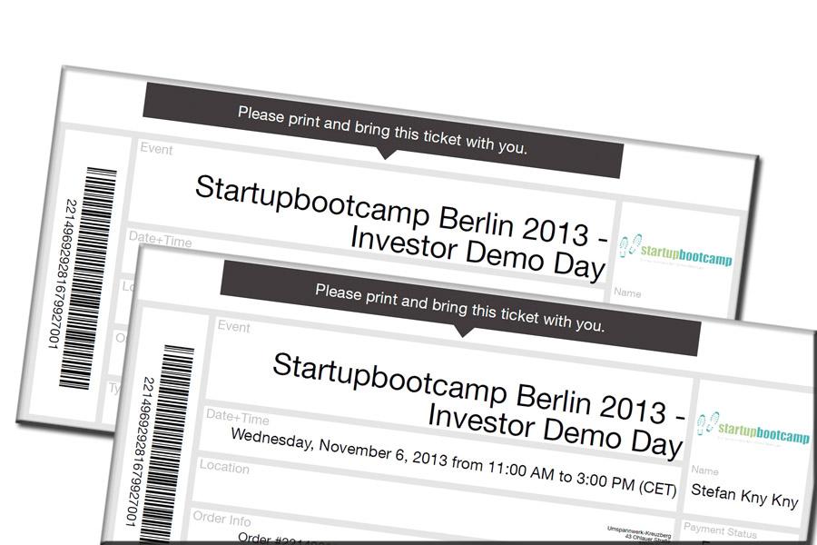 Anmeldung Startbootcamp Berlin 2013