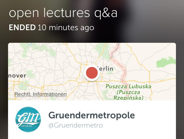 Fazit: Livestream Open Lecture