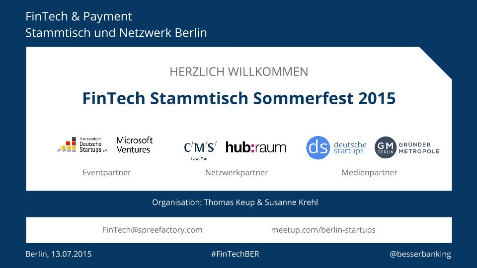 FinTech Sommerfest 2015