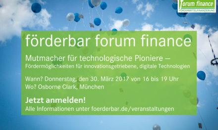 30.3. Fördermittel für innovative Unternehmen: deutschlandweite Veranstaltungsreihe von förderbar