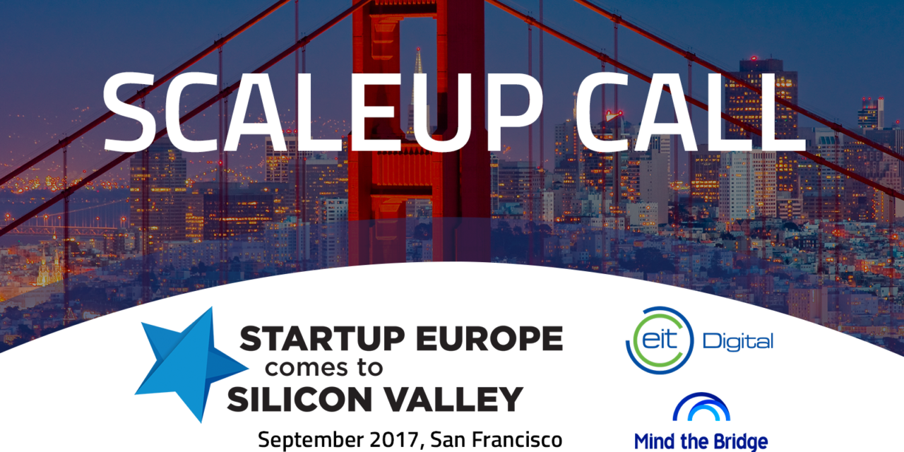 "Bewirb Dich: ""Startup Europe Comes to Silicon Valley"" 2017"