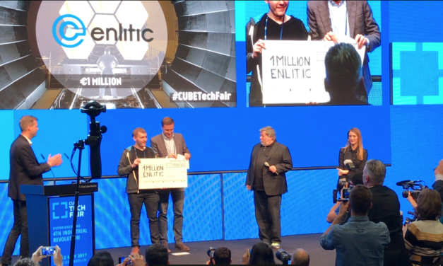Steve Wozniak gibt Gewinner der CUBE Tech Fair bekannt