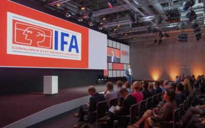 Eine Bühne für den Accelerator Day auf der IFA