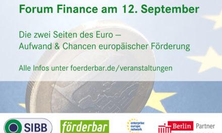 Eventtipp 12.09. Die zwei Seiten des Euros: Aufwand & Erfolgschancen von EU-Förderung