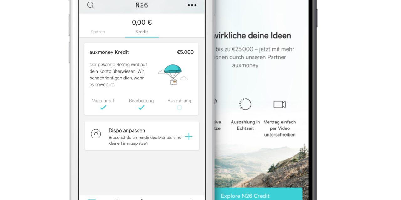 Die Mobile Bank N26 und Kreditmarktplatz auxmoney kooperieren