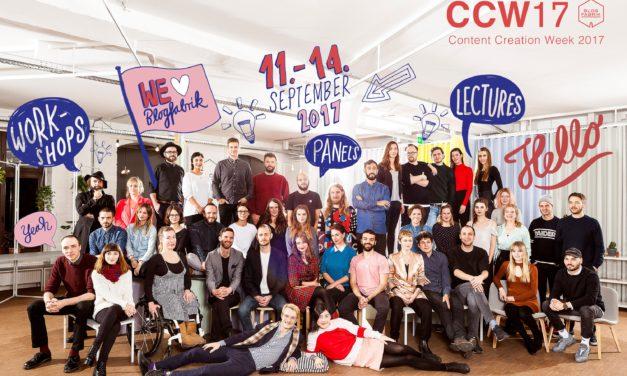 Content Creation Week 2017: Blogfabrik-Netzwerk ruft eigene Konferenz ins Leben