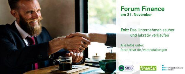 Eventtipp: 21.11. Exit: Das Unternehmen sauber und lukrativ verkaufen