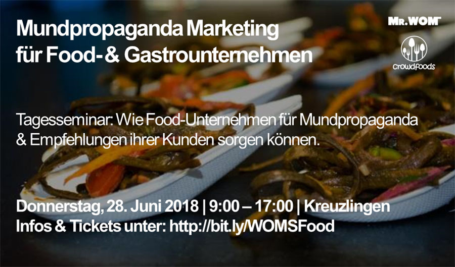 Seminartipp: Wie Food Startups für Gesprächsstoff sorgen