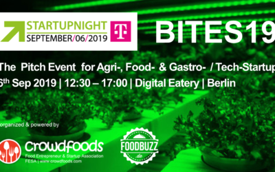 Startupnight Berlin am 6. September mit Pitch Konferenz und Awards für Foodtech Startups.