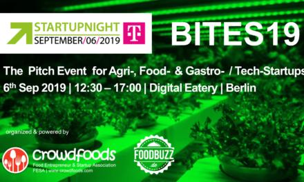 Startupnight Berlin am 6. September mit Pitch Konferenz und Awards für Foodtech Startups.