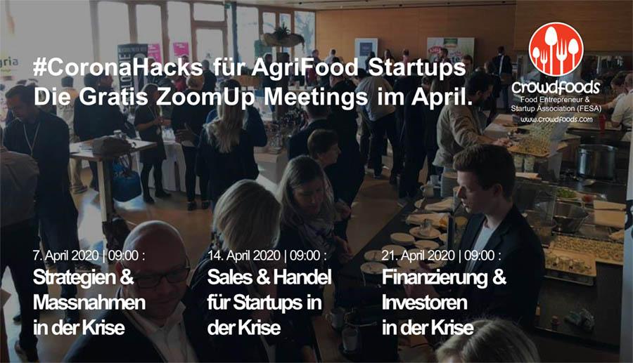 AgriFood Startup Verband crowdfoods startet #CoronaHacks Online-Eventreihe mit kostenlosen Tipps für Startups in der Krise.