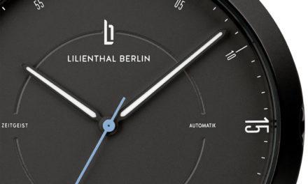 """Lilienthal Berlin treibt den Wandel der deutschen Uhrenbranche voran-                                                                                                                    Die Zeitgeist Automatik """"All Black"""" wird zur """"Uhr des Jahres 2020"""" gekürt"""